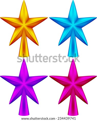 christmas star isolated vector illustration of several versions of eps 10  Christmas star