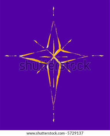 Christmas Star, Natal Star the 3 wisemen followed - stock vector