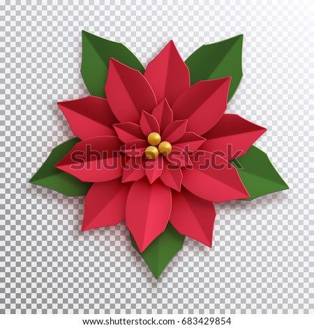 Christmas star paper poinsettia red flower stock vector 683429854 christmas star paper poinsettia red flower vector illustration icon isolated mightylinksfo