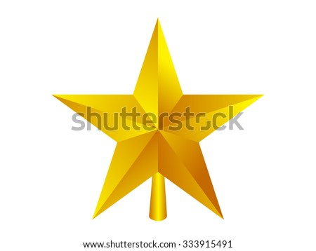 christmas star, vector