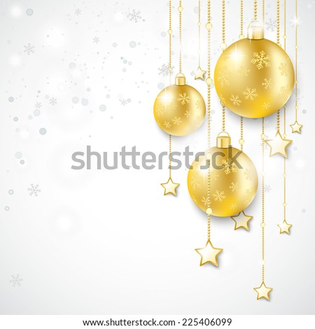 Christmas star with snowflakes on the white background. Eps 10 vector file.