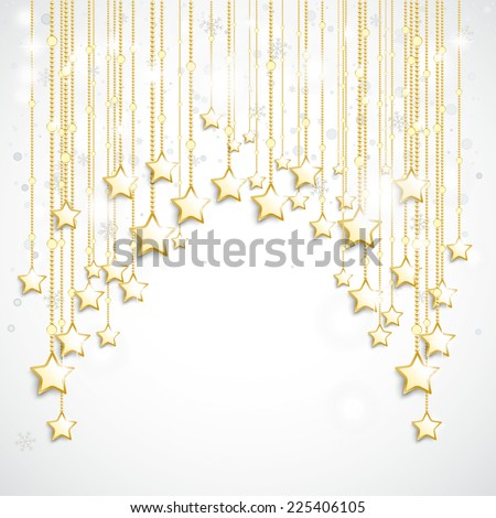 Christmas star with snowflakes on the white background. Eps 10 vector file. - stock vector