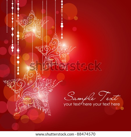 Christmas Stars background - stock vector