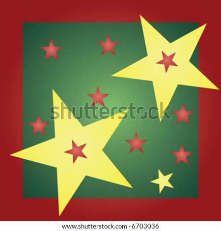 christmas stars background - vector