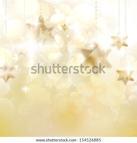 Christmas stars design template. EPS10 - stock vector