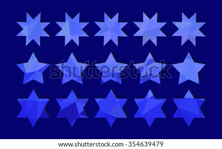 Christmas stars of blue color