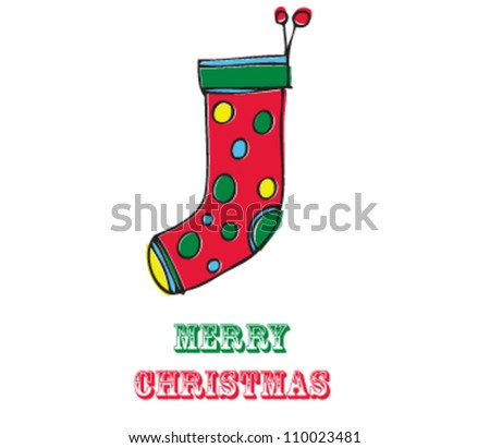 Christmas Stocking with Merry Christmas text