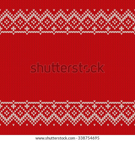 Christmas Sweater Design. Seamless Knitted Pattern - stock vector