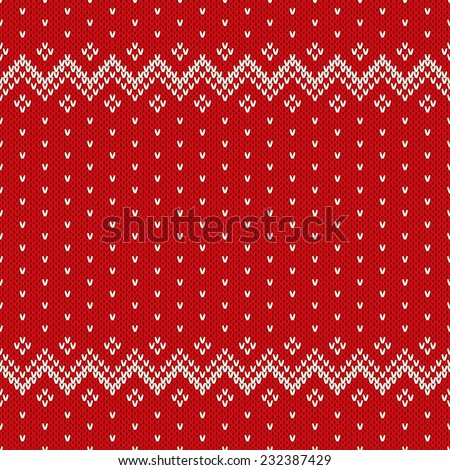 Christmas Sweater Design. Seamless Pattern - stock vector
