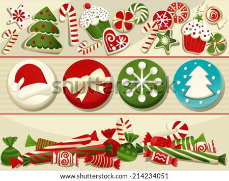 Christmas sweets - stock vector