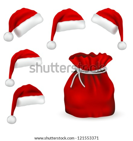 Christmas symbol set isolated on white background - stock vector