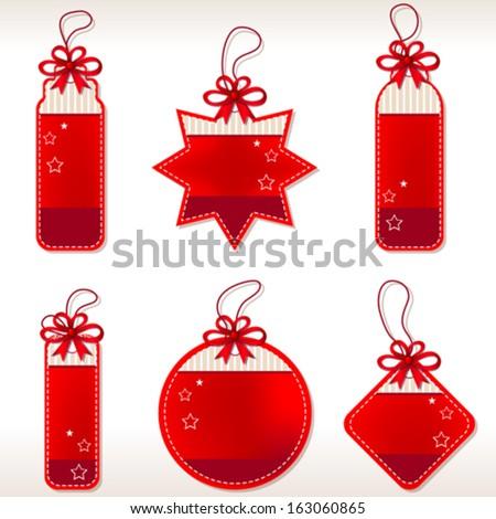 Christmas Tag Set - stock vector