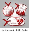 christmas tags or labels - stock vector