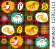 Christmas tartan, plaid pattern vector background, wrapping paper - stock vector
