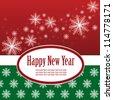 Christmas template frame design for greeting card. vector illustration - stock vector