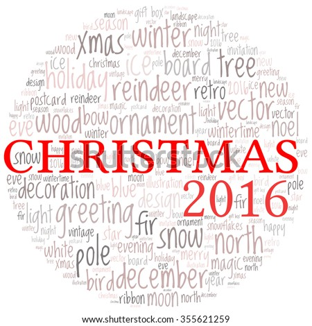 christmas -text graphics concept (word cloud)