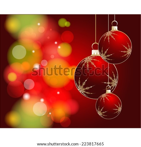 Christmas theme. Abstract illustration for design.