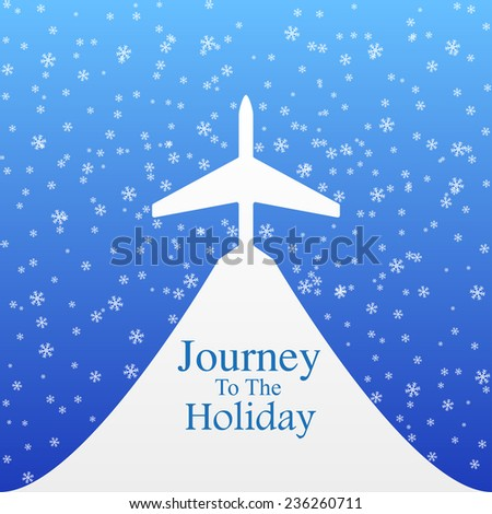 Christmas Travel - stock vector