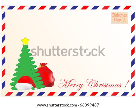 Christmas Tree Cap Santa Claus Gifts Stock Vector 66099487 ...
