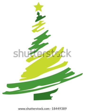 Christmas Tree Abstract - stock vector