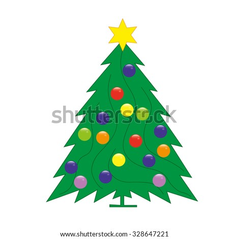 christmas tree abstract stock vector 328647221 shutterstock
