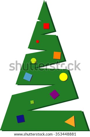 Christmas tree abstract. Vector Illustration - stock vector