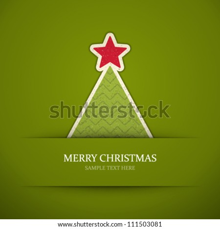 Christmas tree applique vector background - stock vector