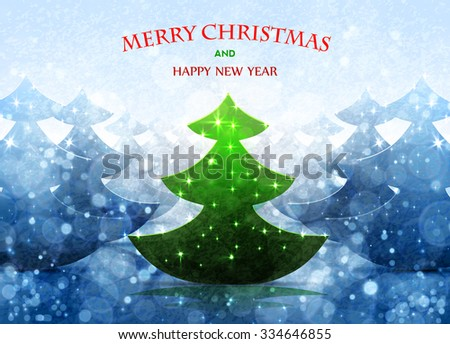 Christmas tree background. Abstract Vector Illustration eps 10 - stock vector