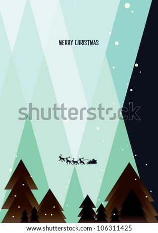 Christmas tree/ background of new year n christmas - stock vector