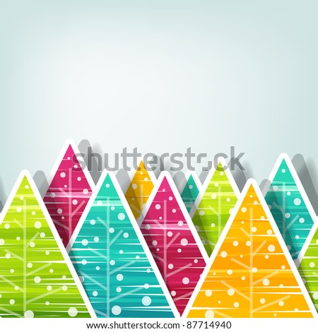 Christmas tree background, seamless vector illustration - stock vector