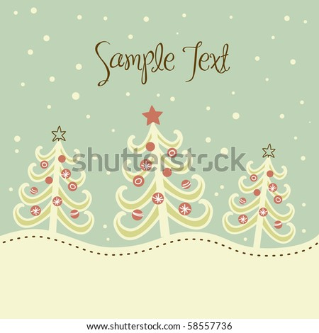 Christmas tree background, vector illustration - stock vector
