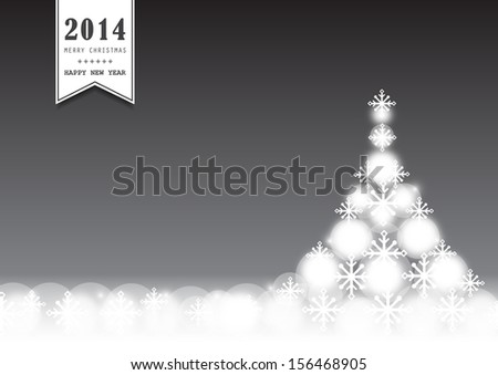 Christmas Tree Background - Vector Illustration, Graphic Design Editable For Your Design.