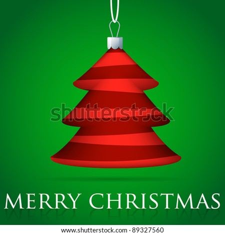Christmas tree bauble card in vector format. - stock vector