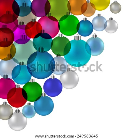 Christmas tree bauble, vintage stained glass banner, vector - stock vector