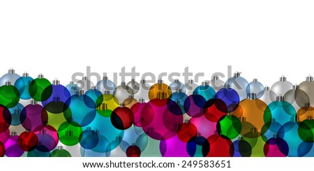 Christmas tree bauble vintage stained glass banner vector - stock vector