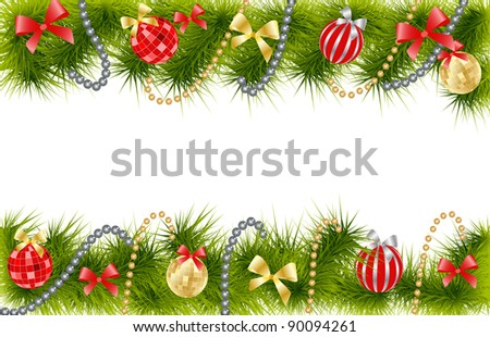 Christmas Tree decoration - stock vector