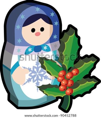 christmas tree decoration russian doll