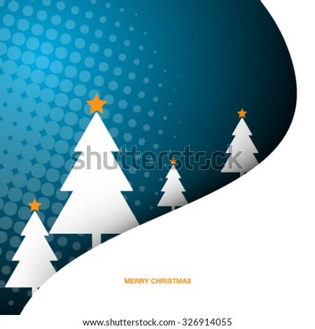 Christmas Tree Design Background - stock vector