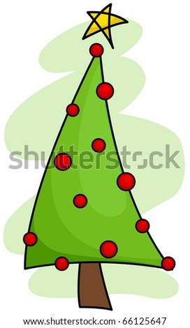 Christmas Tree Design Featuring a Basic Christmas Tree