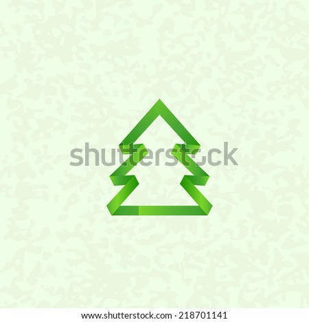 Christmas tree for celebrating the winter holidays. - stock vector
