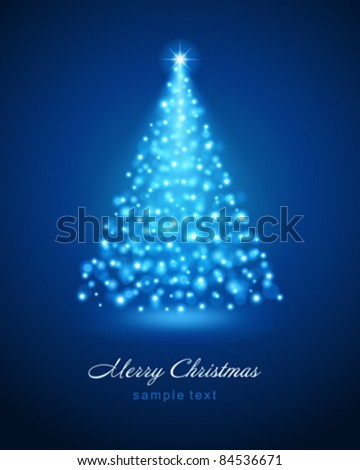 Christmas Tree Lights Blue Stock Images, Royalty-Free Images ...