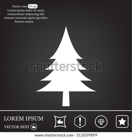 Christmas tree icon  - stock vector