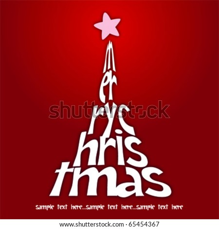 Christmas tree illustration - stock vector