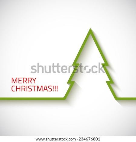 Christmas tree in flat style - stock vector