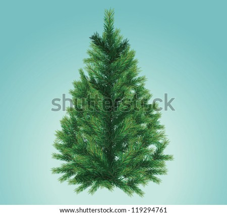 Christmas tree isolated - stock vector