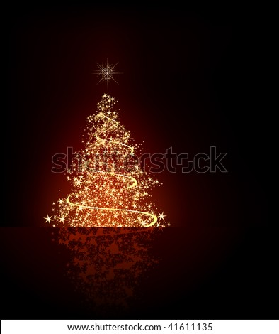 Christmas Tree - Objects on Separated Layers Named Accordingly - stock vector