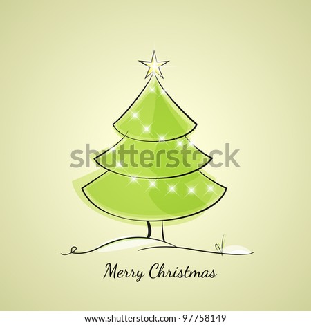 Christmas tree of light chain - stock vector