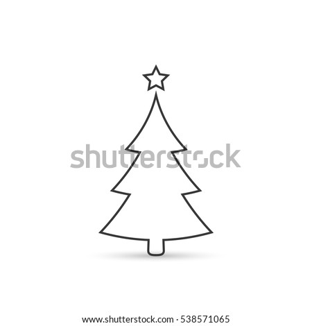 Christmas Tree Outline Stock Images, Royalty-Free Images & Vectors ...