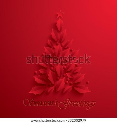 Christmas tree. Seasons Greeting. - stock vector