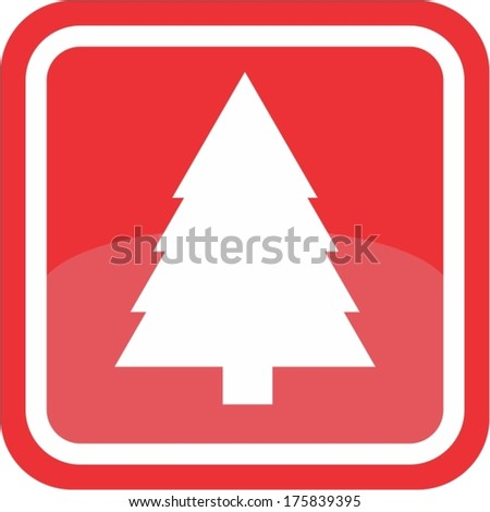Christmas tree sign - stock vector